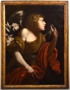 Angel Annunciation Paint Oil on canvas Italy Old master Baroque 16/17th Century