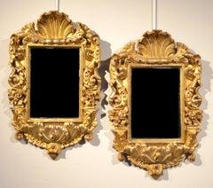 Mirrors Gold Wood 18th Century Italy Baroque Art Interior Design
