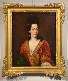 Portrait Woman Oil on canvas Paint 18th Century Baroque Old master Italy Art