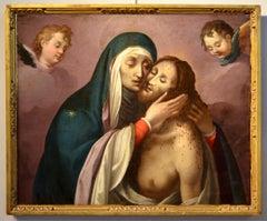 Pietà Cherubs Paint Oil on canvas Religious Rome 16/17th Century Michelangelo