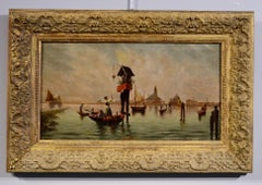 Venice Paint Oil on canvas Italy Landscape 19th Century Art Quality Marina