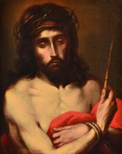 Ecce Homo Jesus Old master Paint Oil on canvas Religious 17th Century Leonardo