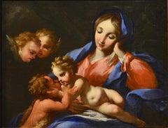 Virgin Saint Paint Oil on canvas Italy 17/18th Century Old master Baroque Art