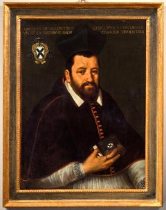 Portrait Paint Oil on canvas Bishop 16/16th Century Italy Raffaello Religious