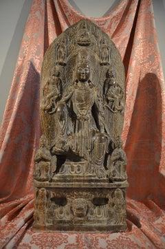 Religious Stone Sculpture Guanyin Botdhisattva China 19th Century Oriental