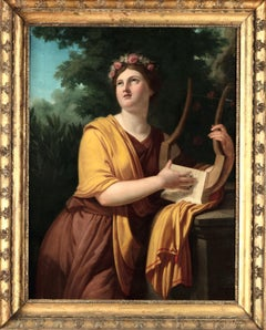 Allegorical Portrait Vien Paint Oil on canvas 18th Century Art France Neoclassic