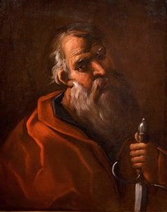 Saint Paul Apostle Portrait Religious 17th Century Oil on canvas Italy Naples