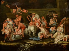 Paint Oil on wood Massacre Innocents 16/17th Century Old master Religious Art