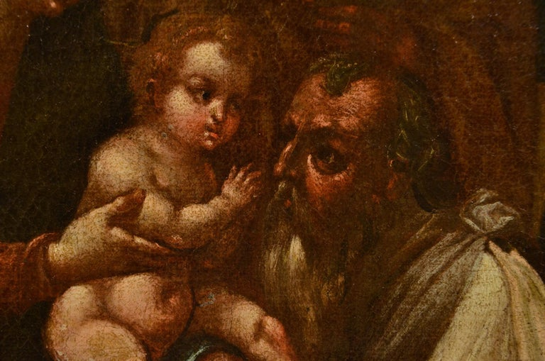 Flemish Adoration 16/17th Century Spain Religious Oil on paint Rubens Holy Art For Sale 13