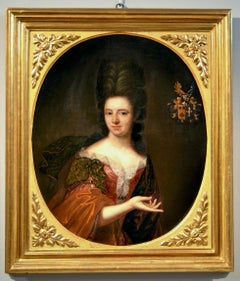 Portrait 17th Century Noble Lady Paint Oil on canvas 17th Century Italy Florence