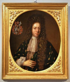 Portrait Old master Italy paint Oil on canvas 17th Century Baroque Florence Man