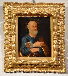 Oil On Copper Paint Old master Portrait Saint Peter Florence The 16th Century
