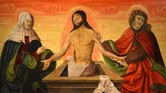 Christ Religious Pietà Dürer Old master Paint Oil on table 15/16th Century Art