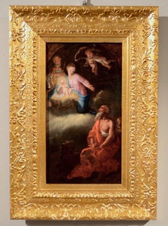 Nativity Saint Jerome Paint oil on canvas Old master 18th Century Italy Baroque