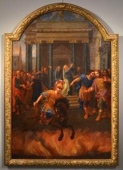 Marco Curzio Venetian school 18th Century, Roma Mythological Oil Paint Italy