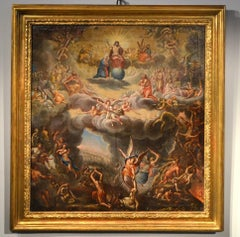 Last Judgment Paint Oil on canvas Old master 17th Century Religious Italy Art