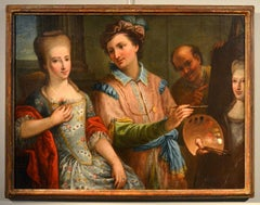 Allegory Of Painting With Portraits Of Clients, 18th Century Venetian Painter