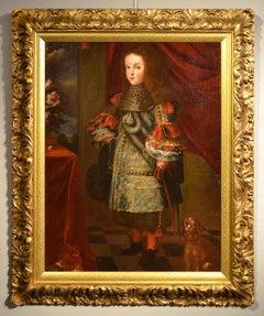Portrait Young Aristocrat Dog Velázquez Paint Oil on canvas Old master Spain Art