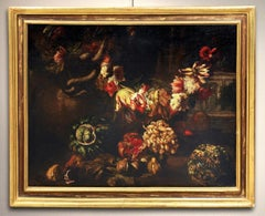 Ascione Still Life Paint Oil on canvas Old master Baroque 17/18th Century Italy