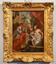 Bathsheba Religious Paint Oil on canvas 17/18th Century Italy Art Quality Canvas