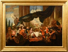 Banquet Mithological King Lefèvre Paint Oil on canvas Old master 17th Century