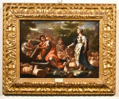 Solimena Rachel And Jacob Paint Oil on vanvas Old master 18th Century Italy Art