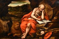 Saint Jerome Penitent Jacopo Negretti Paint Oil on canvas Old master 16thCentury