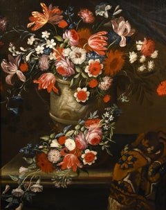 Verbruggen Still Life Flower Paint Oil on canvas Old master Flemish 17th Century