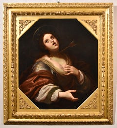 Ficherelli Saint Ursula Paint Oil on canvas Old master Italy 17th Century Art