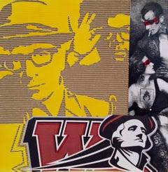Sup. W - David Pompili Pop Art Cardboard Painting
