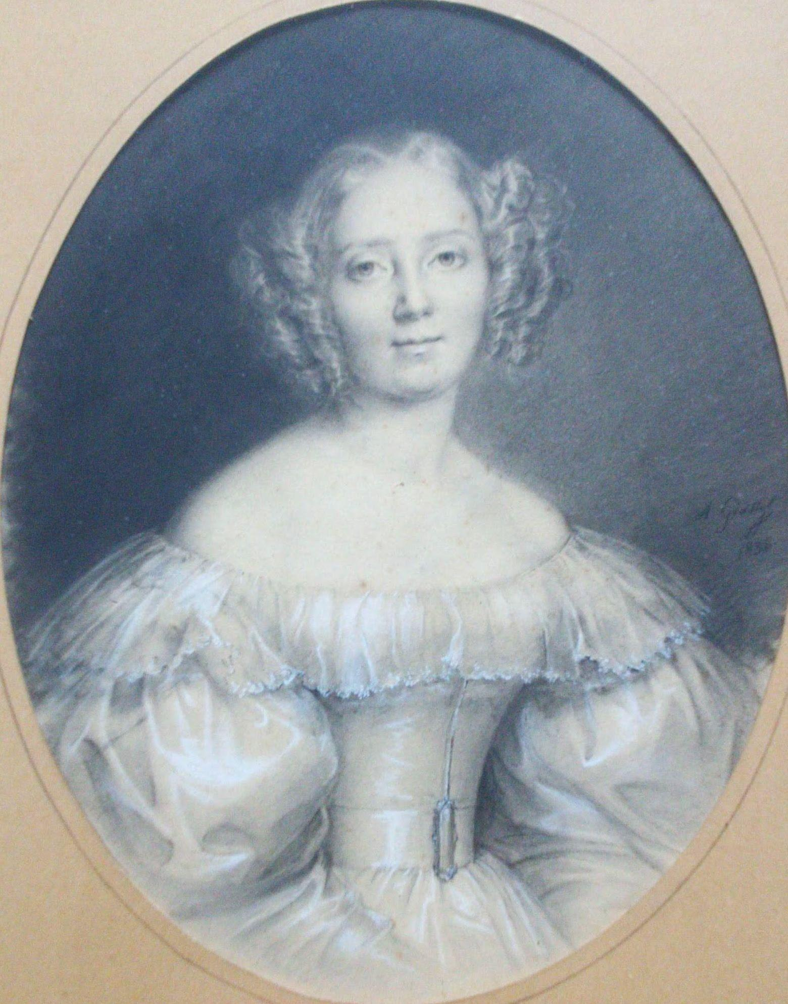 French 19th Century Romantic Period 1830s Paris Society Beauty Portrait