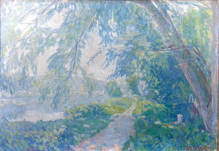I am proud to be able to present a painting by a noted Impressionist whose work almost never becomes available. A friend of Claude Monet and his family, Henri Maurice Pacquet (1890-1973) had long been neglected. This has changed in recent years.