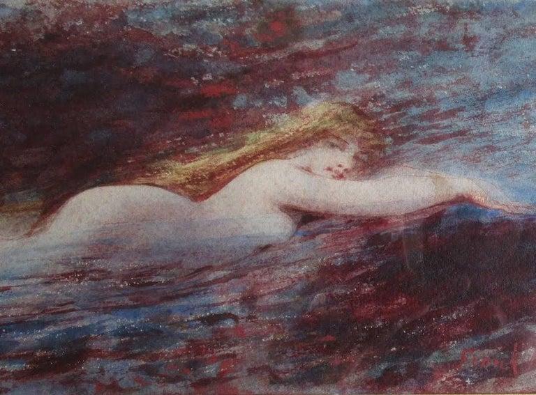Little Mermaid - The Siren - Art Nouveau Art by Frank Howland