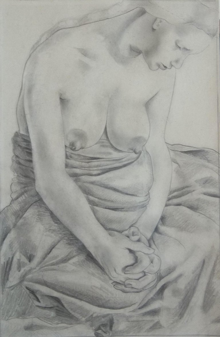 An original drawing of truly magnificent quality by Mariette Lydis (1887-1970) .   Mariette Lydis was a fascinating personality. Twice divorced by 1926, Mariette Lydis arrived in Paris with an Italian lover, where she married her third husband,