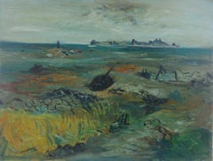 French Expressionist avant garde Seascape Marine Landscape Modernist Mid Century