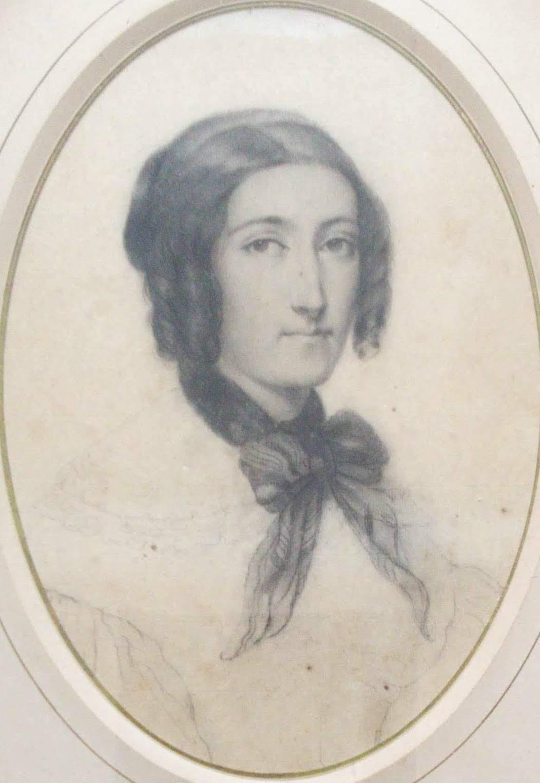 French 19th Century Romantic Period 1830s Parisian Lady Portrait Madame Seguin