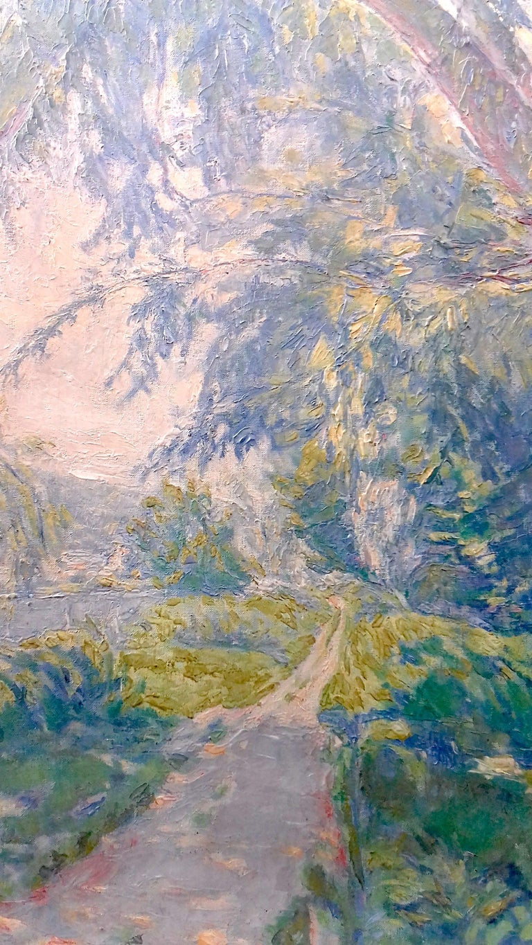 Normandy, the Seine at Giverny French Impressionist Landscape by Henri Pacquet For Sale 2