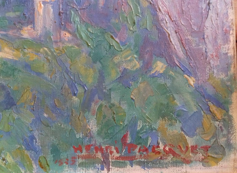 Normandy, the Seine at Giverny French Impressionist Landscape by Henri Pacquet For Sale 4