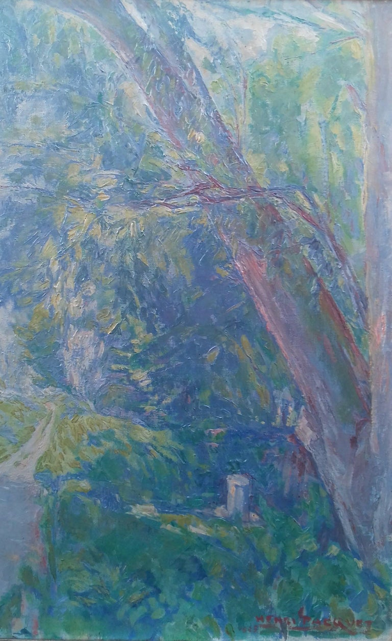 Normandy, the Seine at Giverny French Impressionist Landscape by Henri Pacquet For Sale 8
