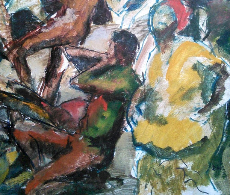 Huge and topical Black Lives Matter painting: Jamaica Morant Bay 1865 rebellion - Realist Painting by Barrington Watson