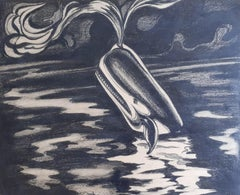 Moby Dick 5 original mid century illustrations for Herman Melville's masterpiece