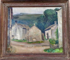 Yorkshire Village, England Modernist Country Painting  by Henry Moore's friend