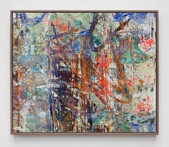 "Joe Reihsen, ""g2902"", acrylic on canvas over panel with walnut frame, 2018"