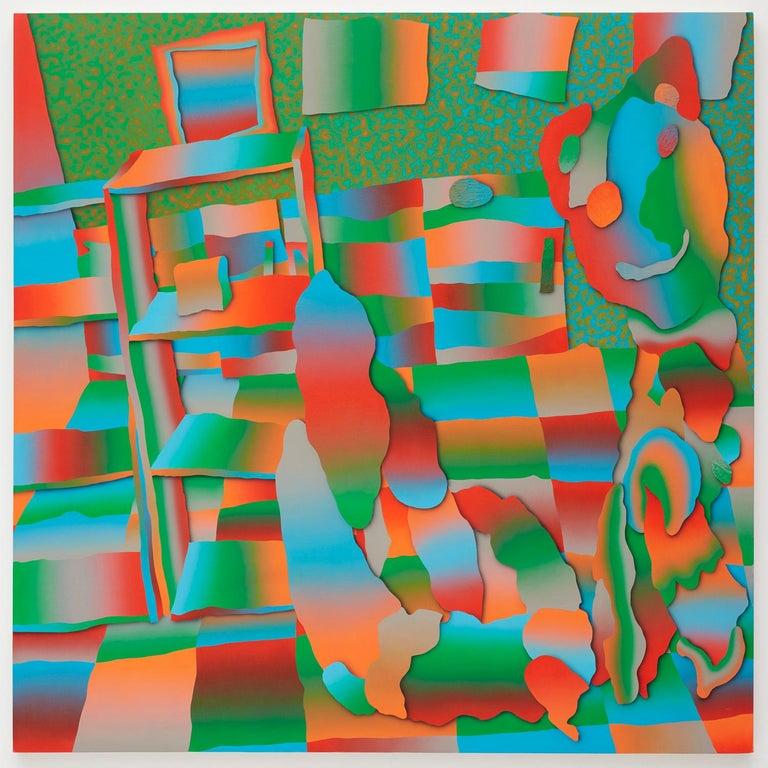 Morgan Blair, 2018, Acrylic and sand on canvas over panel - Painting by Morgan Blair