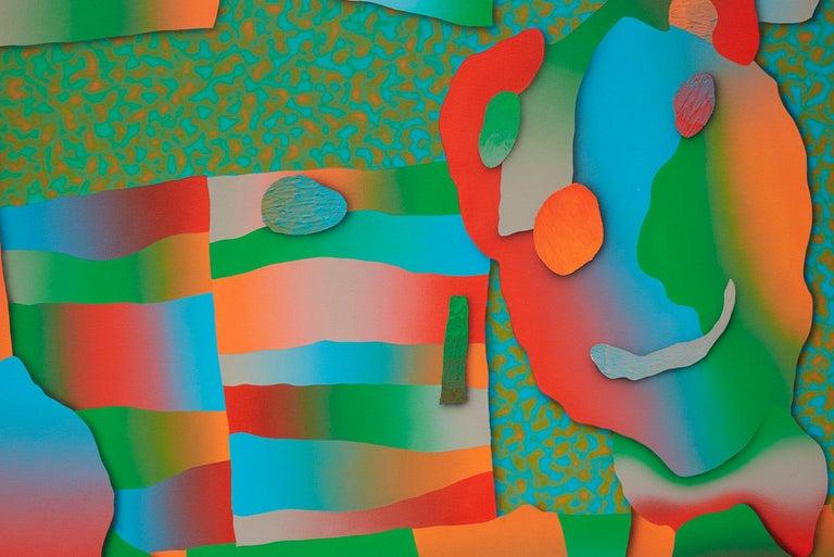 Morgan Blair, 2018, Acrylic and sand on canvas over panel - Gray Abstract Painting by Morgan Blair