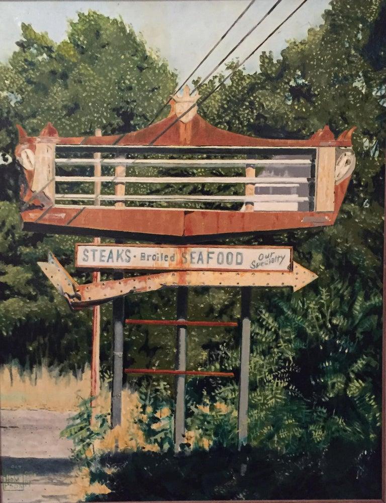 Jim Thompson Landscape Painting - Rt. 30 - Caledonia, PA