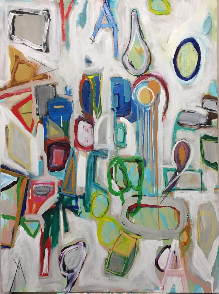 G. Campbell Lyman Abstract Painting - Once and Again (Large)