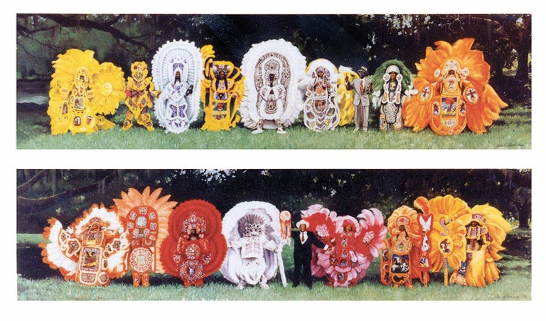 Mark Andresen Portrait Painting - Mardi Gras Indian Chiefs, New Orleans (Set of 2)