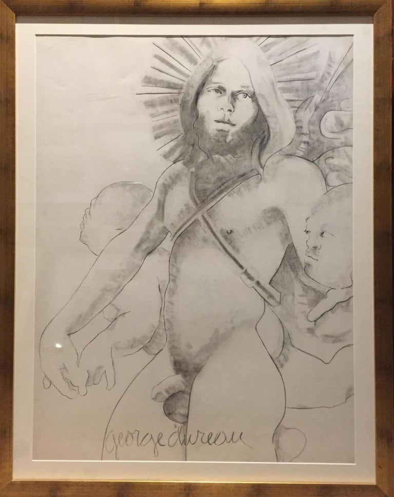 "George Dureau (New Orleans) ""The Artist as a Winged Angel"" - Brown Nude by George Dureau"