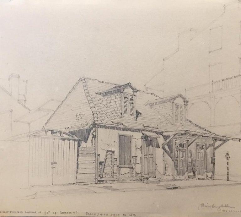 Lafitte's Blacksmith Shop, New Orleans - Art by Morris Henry Hobbs